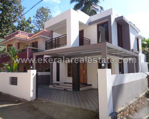Contemporary style new house for sale at kudappanakunnu Modern contemporary house plans for sale